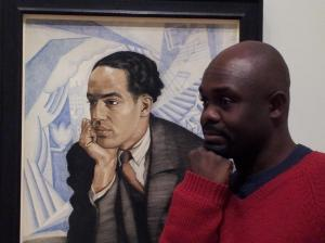Poet Robert Gibbons and his muse Langston Hughes