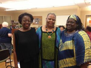 Featured Poet Barbara Newsome, Poet Carmen Bardeguez- Brown and Featured Poet Heather Archibald.