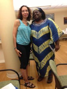 Juliet P. Howard, Poet, Co-founder Women Writers in Bloom Poetry Salon and Featured Poet Heather Archibald.