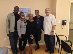 Poets/Spoken Word Artists Robert Gibbons, Mercy Tullis-Bukhari, Lorraine Currelley(Founder Poets Network & Exchange) Vaseah Dupreee and Gary Johnston at New Rochelle ARTSFEST/100 Thousand Poets For Change Spoken Word Jam 2013.