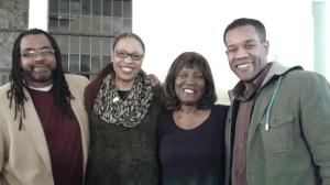 Quraysh Ali Lansana, Antoinette Brim, Patricia Smith and Gregory Pardlo.