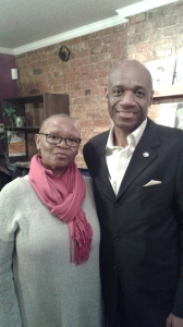 Lorraine Currelley with Featured Reader Edward D. Currelley