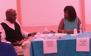 Moderator Edward D. Currelley interviews Author Lisa Hailey Weldon